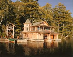 boat house by Michael Bird - Adirondack architect