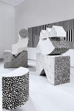 'Soft Sculpture' by Kristine Mandsberg. Geometric Sculpture, Art Sculpture, Geometric Art, Instalation Art, Art Object, Art Direction, Design Art, Contemporary Art, Illustration Art