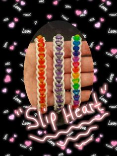 "NEW ""Slip Heart"" Rainbow Loom Bracelet/How To Tutorial"