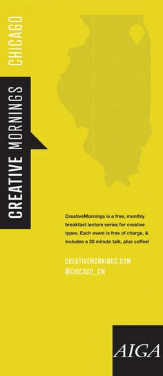 Creative Mornings Chicago Banner by Nick Barry, via Behance