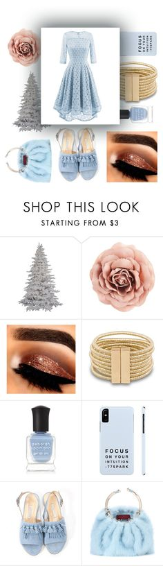 """lace dress"" by majafashionlover ❤ liked on Polyvore featuring Deborah Lippmann, Bionda Castana and Valentino"