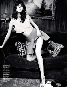 Anais Pouliot | Ellen von Unwerth  #photography | Vogue Russia March 2012