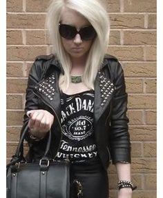 Winter Leather Jackets, Winter Jackets, Biker Leather, Metal Girl, Lady Gaga, Stitch Fix, Punk, Stuff To Buy, Girls