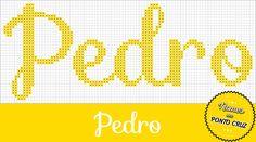 Nomes em Ponto Cruz: Pedro - Nomes em Ponto Cruz
