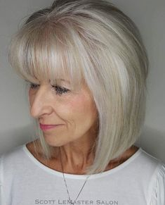 60 Best Hairstyles and Haircuts for Women Over 60 to Suit any Taste Straight Silver Bob Mit Fransen Mens Hairstyles Thin Hair, Over 60 Hairstyles, Short Hairstyles For Women, Straight Hairstyles, Cool Hairstyles, Latest Hairstyles, Hairstyles Haircuts, Bob Hairstyles With Fringe Over 50, Layered Hairstyles