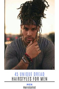 Learn how to style a modern dread hairstyle for men Rasta Dreads, Blonde Dreads, Locs, Dread Hairstyles For Men, Dreadlock Hairstyles, Braided Hairstyles, Wedding Hairstyles, Black Men Haircuts, Black Men Hairstyles