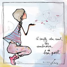 """MYRA & les couleurs ...: mon amie """"LUCE"""" Rumi Love, Mom Quotes From Daughter, Funny Christmas Cards, French Quotes, Illustrations, Positive Affirmations, Black Art, Decir No, Life Is Good"""