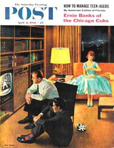 Saturday Evening Post Copyright 1956 Date with Television