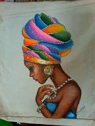 My African roots. Black Girl Art, Black Women Art, African American Artwork, American Artists, African Artwork, Afrique Art, African Quilts, African Art Paintings, Black Artwork