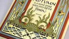 Art Nouveau Autumn card