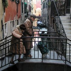When two people grow old together... That's real love!  Venice