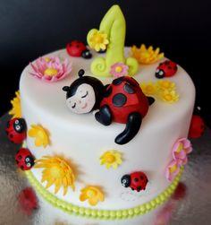 torta,cake lienky-ladybird