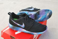 0e015ec27f96 Hand Painted Galaxy Nike Roshe Run Custom Shoes