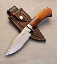 Scott just finished a large hunter - The Chief - for one of our favorite dealers. Check it out! The Chief Steel: W2 with hamon...