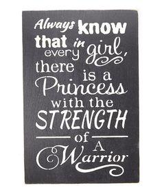Look at this 'Always Know that in Every Girl...' Wall Sign on #zulily today!