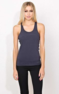 #FashionVault #styles for less #Women #Tops - Check this : Charcoal Gym Motivation Knit Tank - - Med Grey in Size by Styles For Less for $12.99 USD