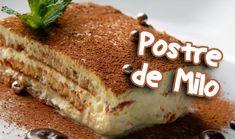 POSTRE de MILO con Galletas Ducales  【 LA MEJOR RECETA 】✅ Yummy Eats, Yummy Food, Pound Cake, Tiramisu, Banana Bread, Sweets, Chocolate, Cookies, Baking