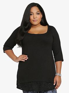 Lace Layered Tunic Top | Torrid