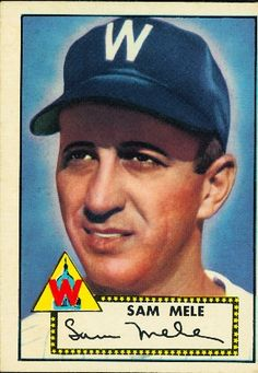 1952 Topps Sam Mele Baseball Card for sale online Twins Baseball, Baseball Players, Playing For Keeps, Kids Playing, Baseball Cards For Sale, Favorite Pastime, Minnesota Twins, Logo Concept, Team Logo
