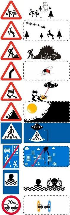 El significado de las señales de tráfico