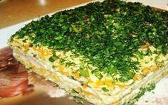 Вафельный торт с сельдью — Кулинарная книга - рецепты, фото, отзывы