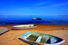 Chatham, Massachusetts Boat and Sand