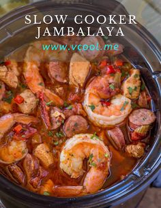 Crock Pot Jambalaya TODAY Com. Slow Cooker Jambalaya Recipe SimplyRecipes Com. Easy Slow Cooker Chicken And Shrimp Jambalaya Sarah's . Home and Family Crockpot Dishes, Crock Pot Slow Cooker, Crock Pot Cooking, Crockpot Meals, Crock Pot Gumbo, Dinner Crockpot, Keto Crockpot Recipes, Crock Pots, Healthy Crockpot Recipes