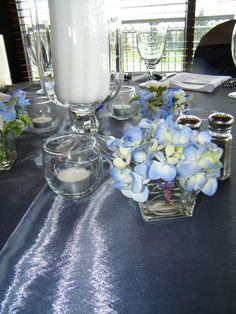 Another centerpiece (there were three designs) at a September wedding.  Event Design by Luxe Event Productions, LLC.  (c) Luxe Event Productions, LLC.