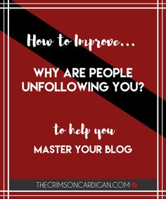 Why Do People Unfollow You, and how to respond.