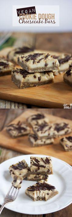 Cookie Dough Cheesecake Bars (Gluten-free, DAIRY-FREE, paleo-friendly, vegan) from Lexi's Clean Kitchen