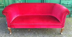 Antique Victorian Red Parlour Settee | eBay Parlour, Settee, Tub Chair, Cousins, Accent Chairs, Europe, Victorian, Antiques, Music