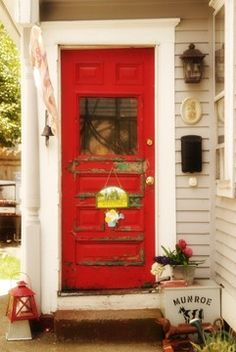 photograph Red Welcome Door Warren Rhode Island Fine by 630photo