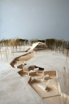 This is an Architectural model not a doll house. Exhibition Grounds of the Estonian Road Museum, Salto architects