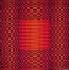 Rep Weave - Red Square by Rosalie Neilson I just love the iridescence of this piece