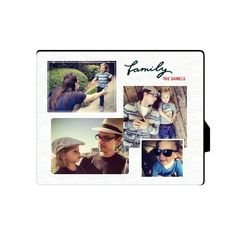 Family Montage Desktop Plaque, Rectangle, 8 x 10 inches, Grey