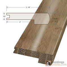 "Moldings Online 0.47"" x 3.13"" x 72"" Stair Nose"