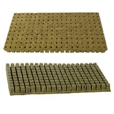 """Grodan A-OK 1""""x1"""" Sheet of 200 Rockwool / Stonewool Starter Cubes for Cuttings, Cloning, Plant Propagation, and Seed Starting by Grodan. $19.19. Perfectly-sized to fit a standard flat growing tray. Predrilled planting holes make seeding and plant propagation a breeze!. Packaged in bulk to save you money. Includes 200 individual rockwool / stonewool grow cubes. Root Cuttings, Clone Plants, Start Seeds and more!. Grodan stonewool is known for its quality, consistency and perform..."""