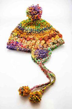 Handspun Crocheted Hat - PDF Pattern #handspun #handspuncrochethat #crochethatpattern