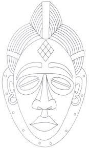 this image is designed to help you with drawing or tracing this african mask