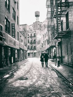 New York City - Snow - Doyers Street - Chinatown