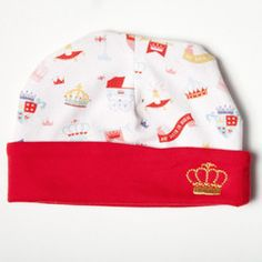 """This limited edition, reversible cap from Magnificent Baby's """"An Heir is Born"""" collection is a great way to crown your own little heir or heiress.  Where Mom & Babies Grow www.BloomMaternity.net/an-heir-is-born-ltd-edition-reversible-embroidered-hat-by-magnificent-baby"""
