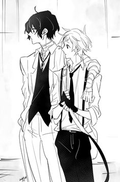 Look at these two dorkssss Stray Dogs Anime, Bongou Stray Dogs, Manga Art, Anime Art, Bungou Stray Dogs Atsushi, Estilo Anime, Art Poses, Anime Ships, Pretty Art