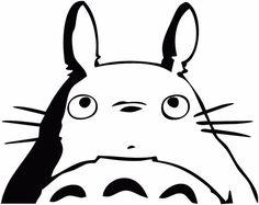 My Neighbor Totoro -- Studio Ghibli Anime Decal Sticker for Car/Truck/Laptop Anime Totoro, Stencil Art, Stencils, Totoro Drawing, Personajes Studio Ghibli, Pumpkin Stencil, Studio Ghibli Movies, My Neighbor Totoro, Anime Stickers