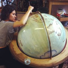 """Only two workshops in the world still make handcrafted globes; one of them is us….. Bellerby & Co. Globemakers, a studio based in Stoke Newington, London."""