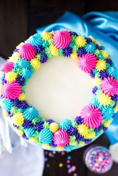 Perfect Funfetti Cake -- Made from scratch!  Love those bright colors!