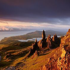 Photo by @jimrichardsonng // The Hebrides story was one of my favorites because these Scottish islands have some really bizarre geology. The Storr on the Isle of Skye is a good example. I scrambled up there in the morning to be in place when the first light caught craggy spires of the Old Man of Storr in what is known as the Sanctuary—those pinnacles that jut up out of the earth like fangs. They are the stubborn remnants of an ancient landslip that swept the whole mountainside down into the…