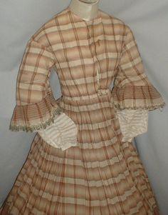 Heavenly 1860's Cotton Print Dress | eBay