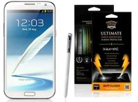 Buff Armor Samsung Galaxy Note 2 II N7100 Front Screen Protector Scratch Guard Antishock AntiScratch Tough