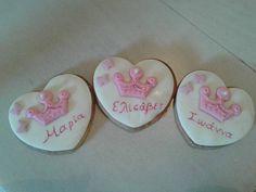 Μπισκοτάκια για ονομαστικές γιορτές ή γενέθλια των παιδιών στο σχολείο και όχι μόνο Little Bites, Cupcakes, Cookies, Happy, Desserts, Food, Crack Crackers, Tailgate Desserts, Cupcake Cakes