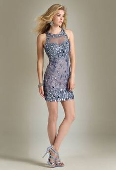 Short Beaded Halter Dress from Camille La Vie and Group USA